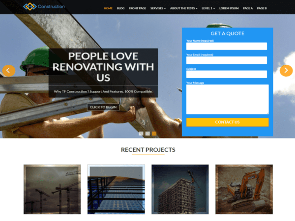 Free TF Construction Wordpress theme