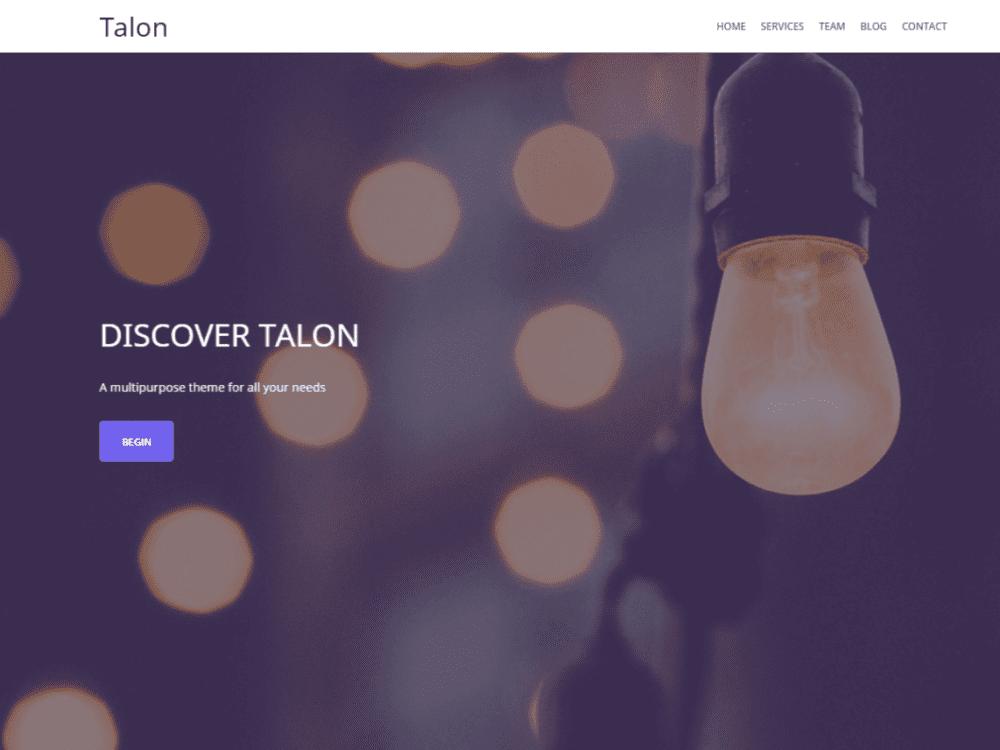Free Talon WordPress theme