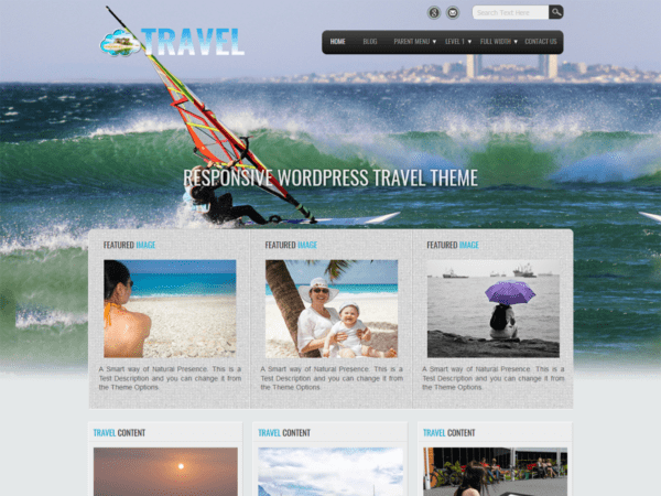 Free Travel Lite Wordpress theme