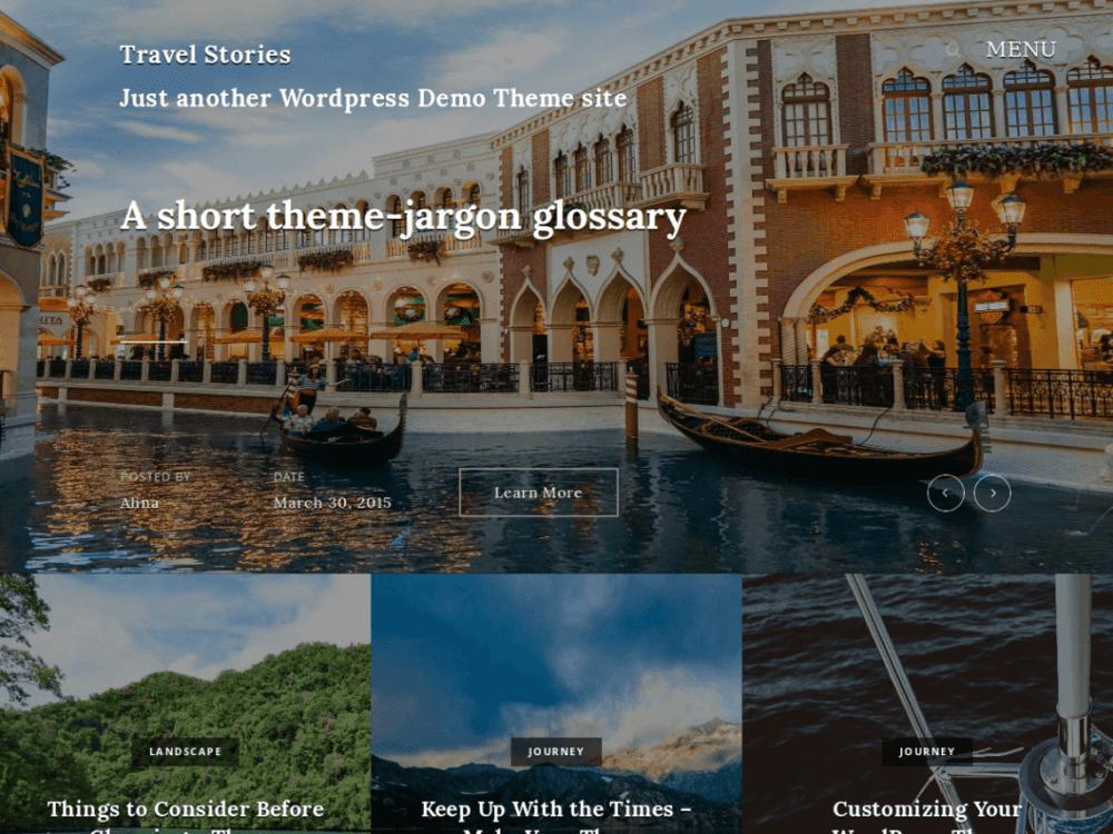 Free Travel Stories Wordpress theme