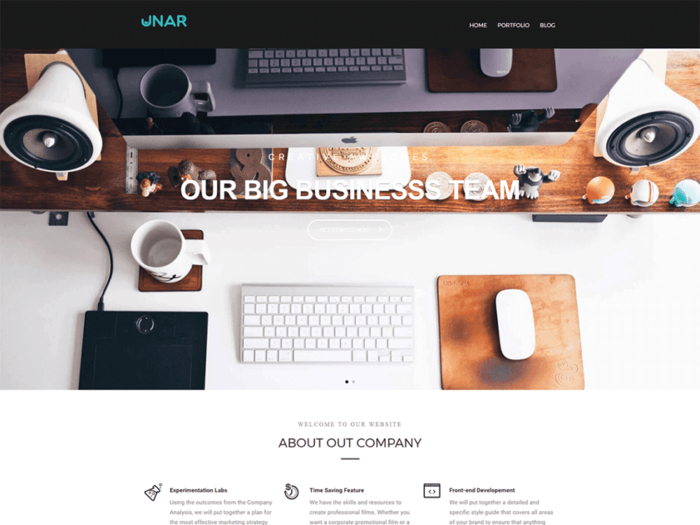 Free Unar WordPress theme