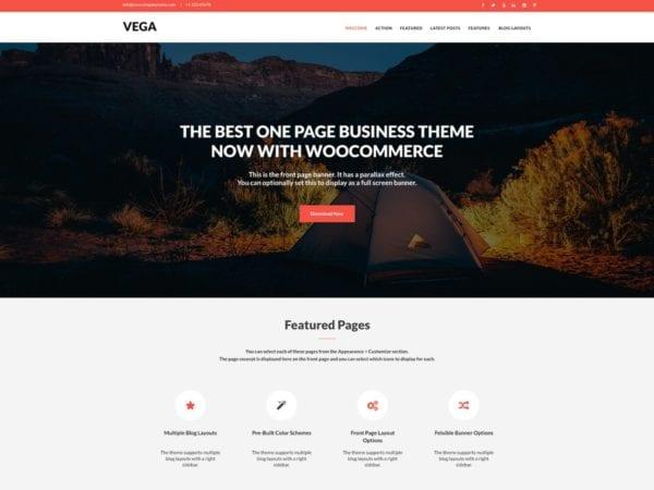 Free Vega Wordpress theme