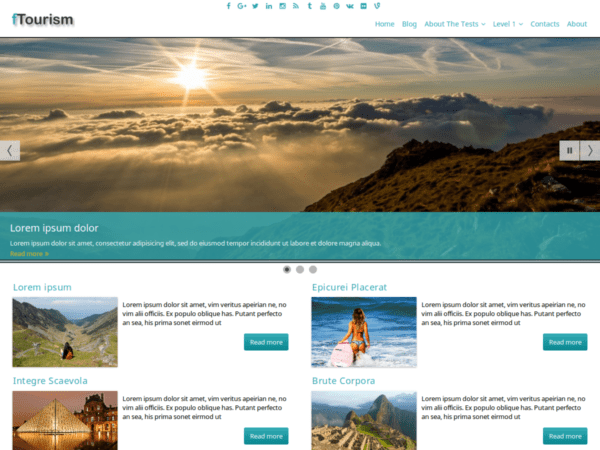 Free fTourism Wordpress theme