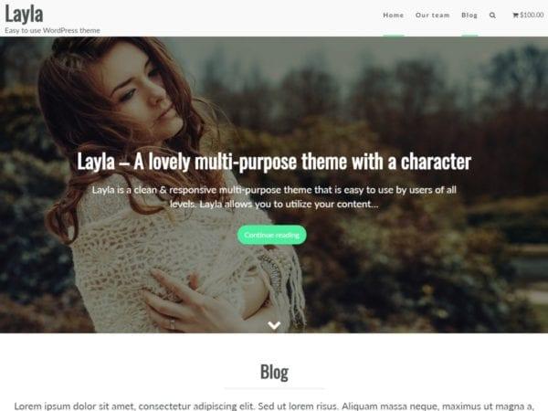 Free layla wordpress theme