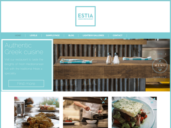 Free Greek Restaurant Wordpress theme