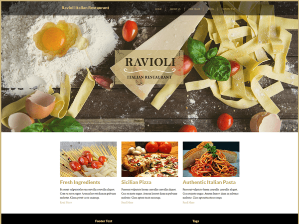 Free Italian Restaurant Wordpress theme