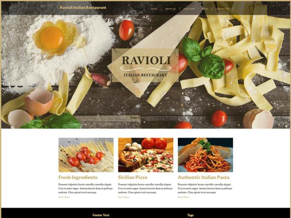 Free Italian Restaurant Wordpress theme