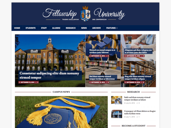 Free MH CampusMag WordPress theme