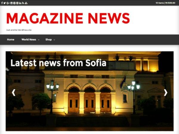 Free Magazine News Wordpress Theme