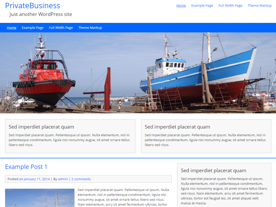 Free PrivateBusiness WordPress theme