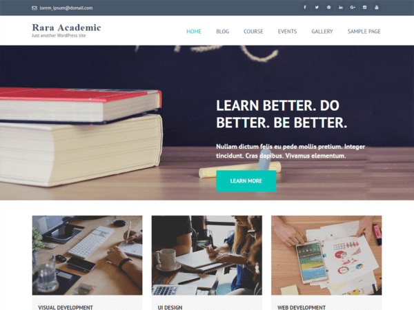 Free Rara Academic Wordpress theme