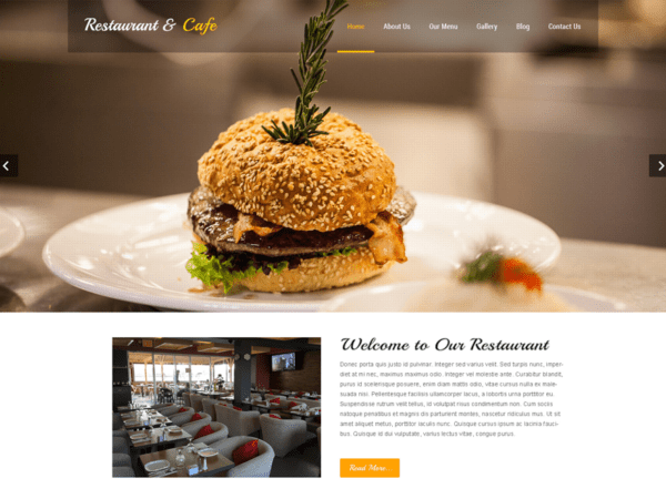 Free Restaurant Lite Wordpress theme