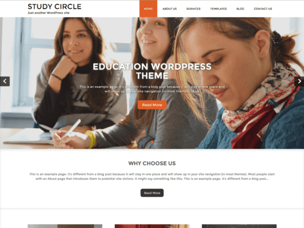 Free Study Circle WordPress theme