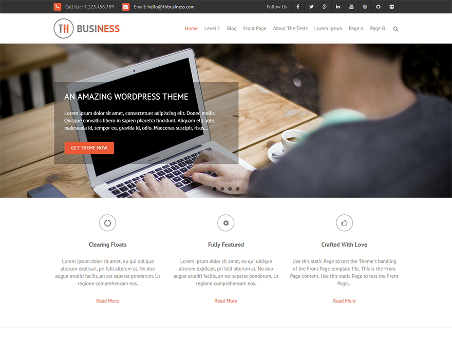 Free THBusiness WordPress theme