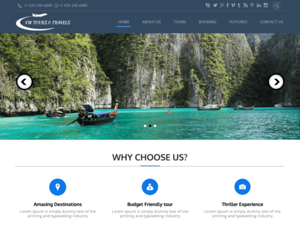 Free Tour Lite Wordpress theme