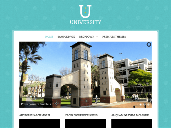 Free University Wordpress theme