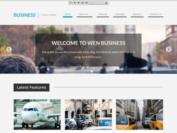 Free WEN Business WordPress theme