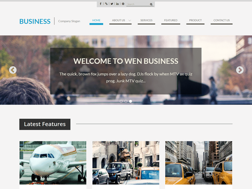 Download free wen business wordpress theme justfreewpthemes free wen business wordpress theme flashek