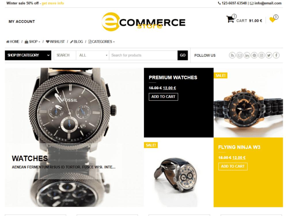 Free eCommerce Store WordPress theme