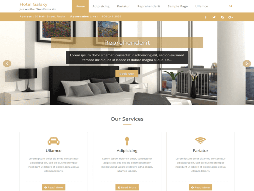 Download Free Hotel Galaxy Wordpress theme - JustFreeWPThemes