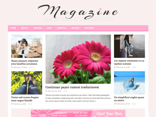 Free MH FeminineMag Wordpress Theme