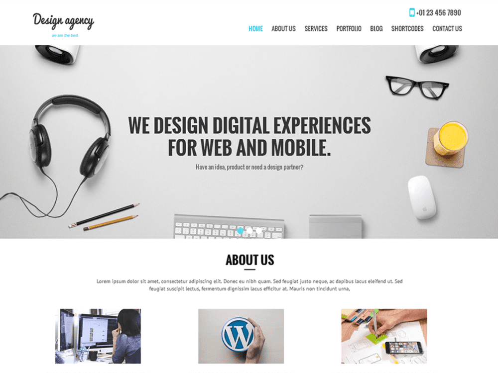 Free SKT Design Agency Wordpress Theme
