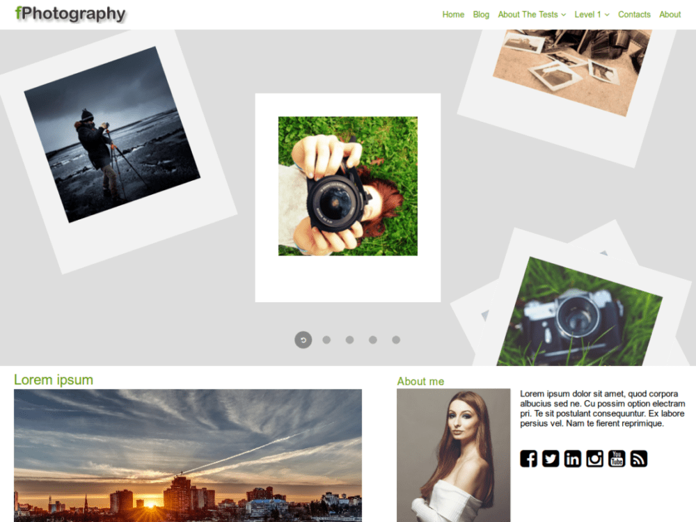 Free FPhotography Wordpress Theme