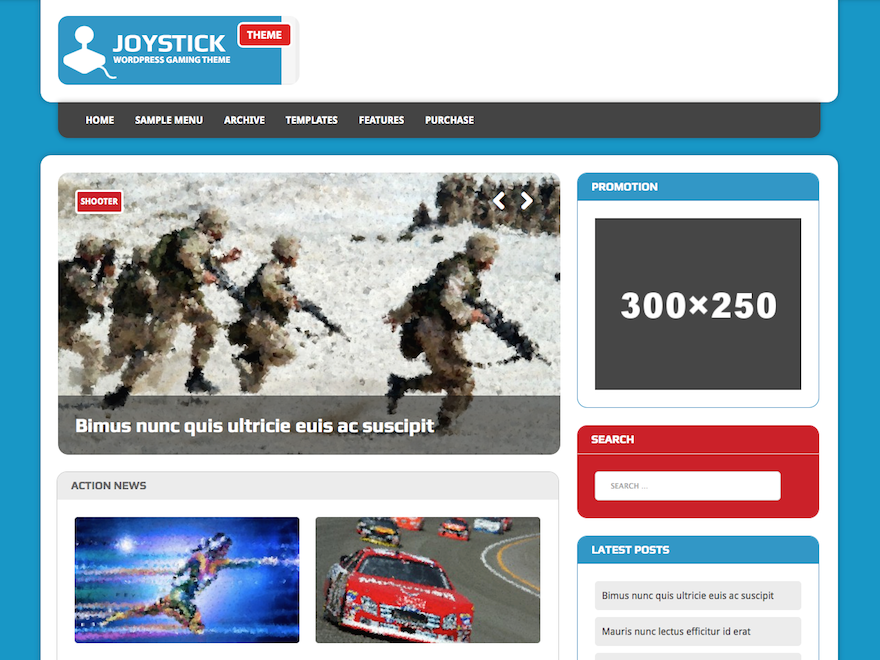 Free MH Joystick Lite Wordpress Theme