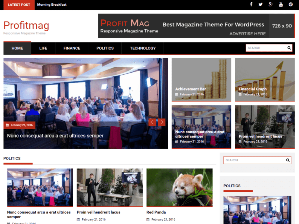 Free ProfitMag Wordpress Theme