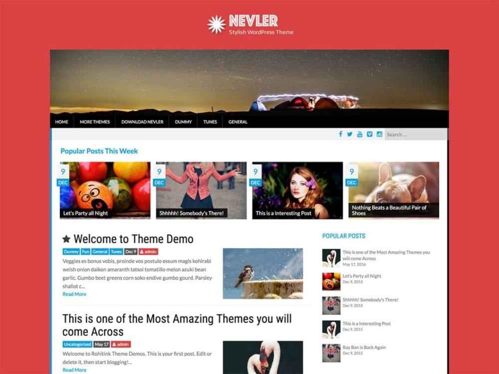 Free Nevler Wordpress Theme