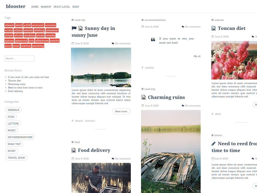 Free Blooster Wordpress Theme