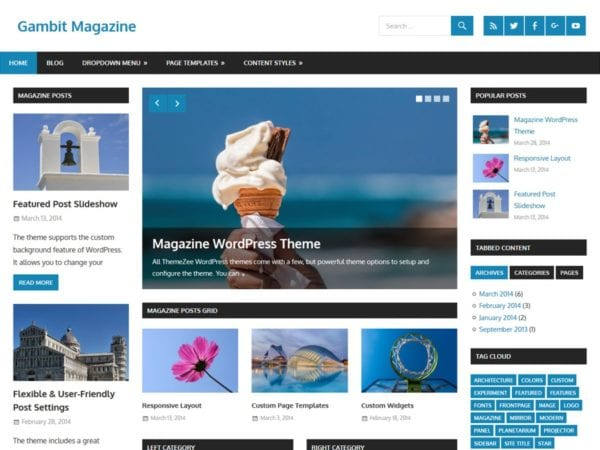 Free Gambit Wordpress Theme