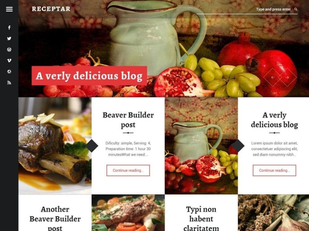 Free Receptar Wordpress Theme