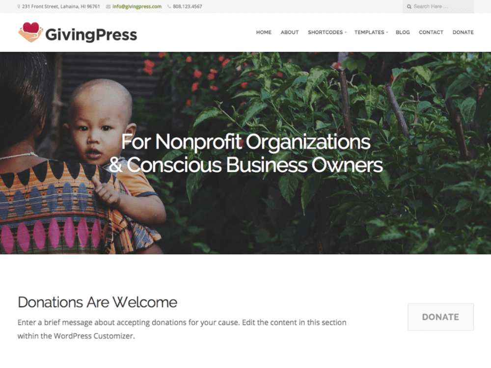 Free GivingPress Lite Wordpress Theme
