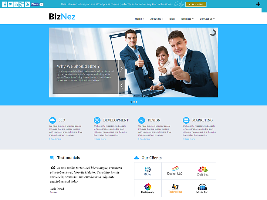 Download free biznez lite wordpress theme justfreewpthemes free biznez lite wordpress theme cheaphphosting Images