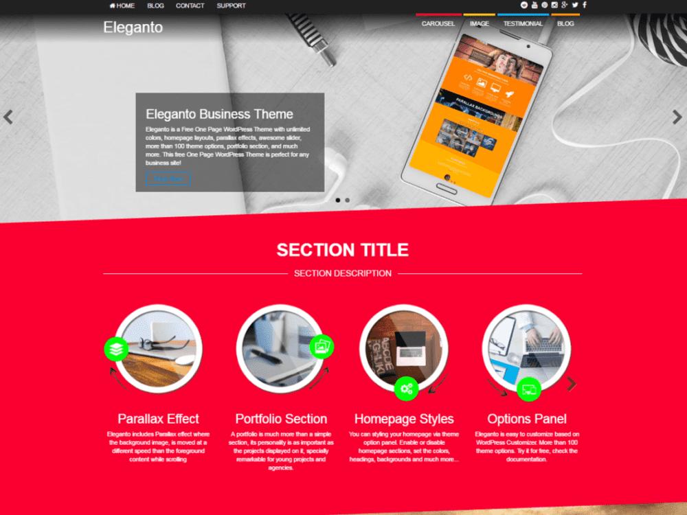 Free Eleganto Wordpress theme