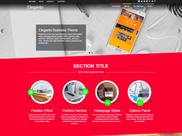 Free Eleganto Wordpress theme