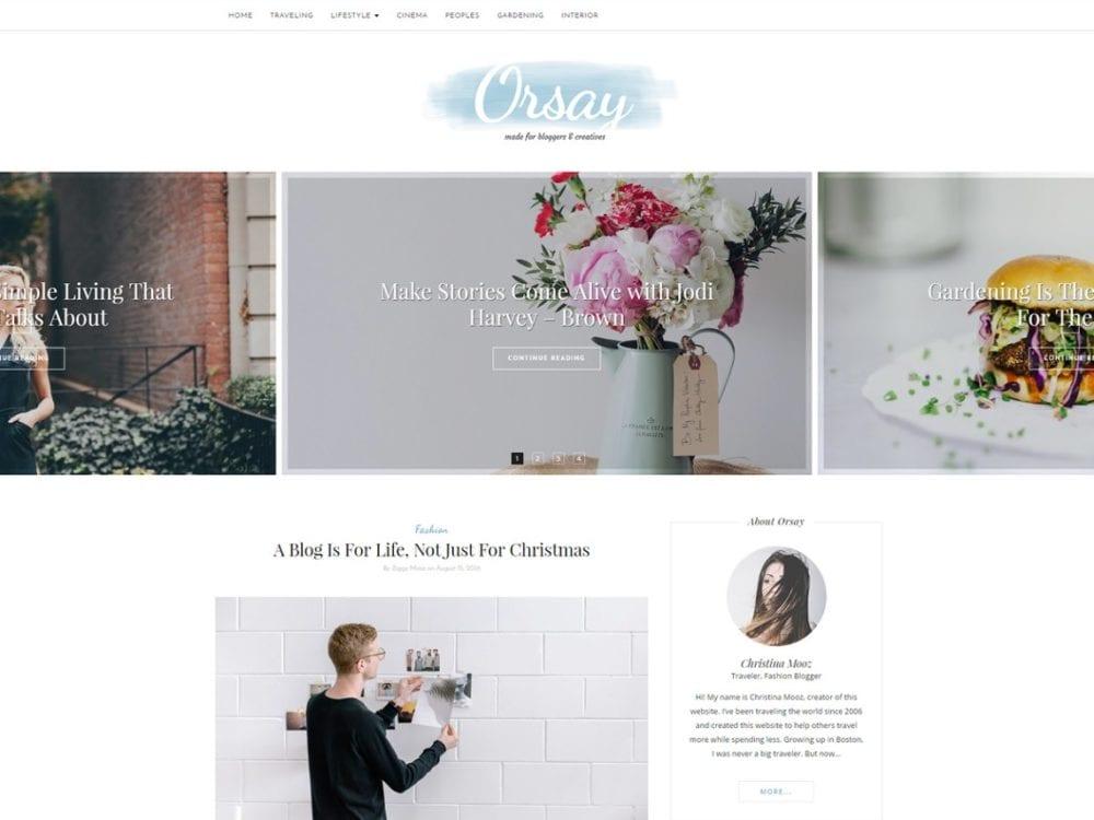 Free Orsay Wordpress Theme
