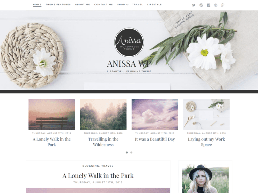 Free Anissa Wordpress Theme