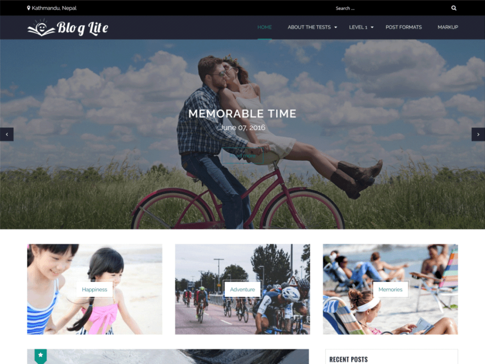 Free Blog Lite Wordpress Theme