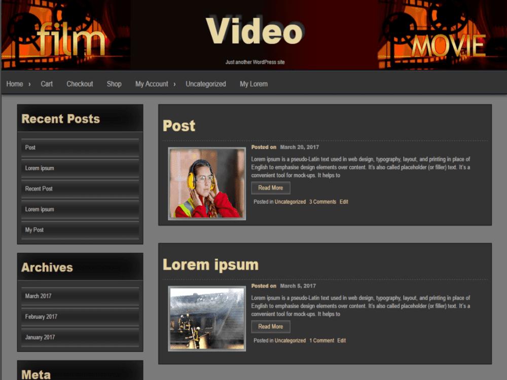 Free Seos Video Wordpress Theme
