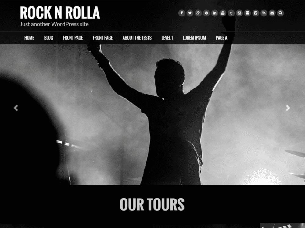 Free Rock N Rolla Wordpress Theme