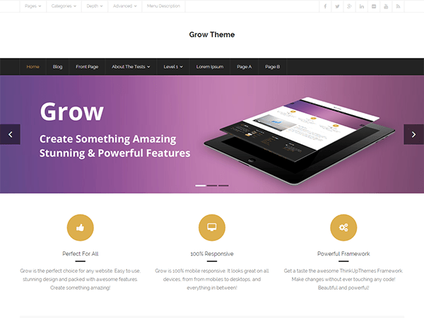 Free Grow Wordpress Theme
