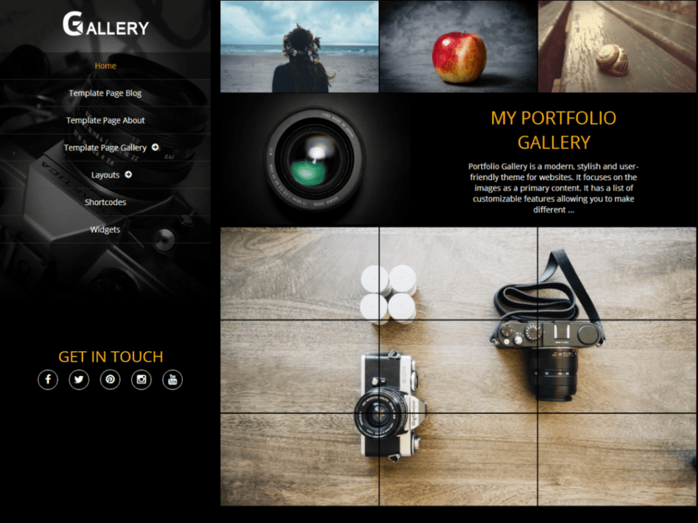 Free Portfolio Gallery Wordpress Theme