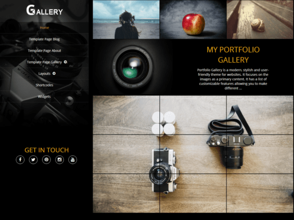 Free Portfolio Gallery Wordpress Theme