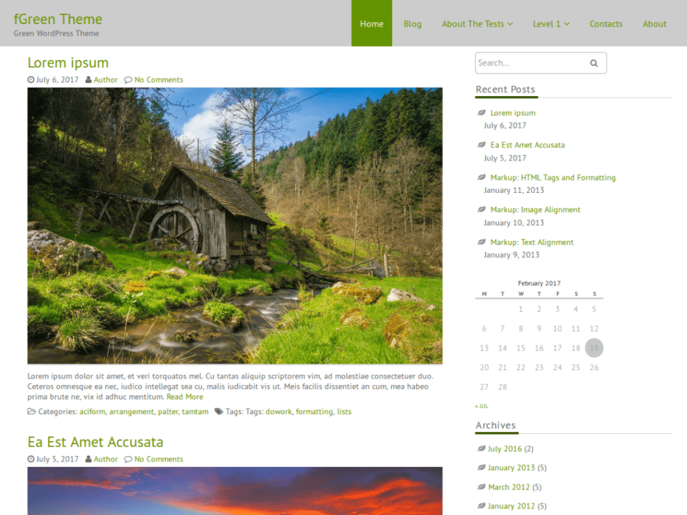 Free FGreen Wordpress Theme