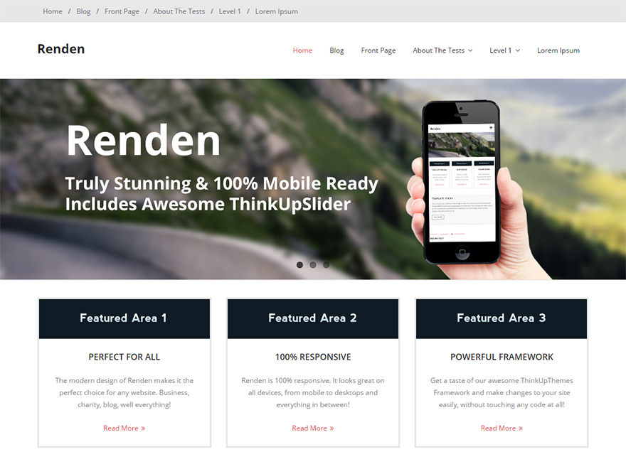 Free Renden Wordpress Theme