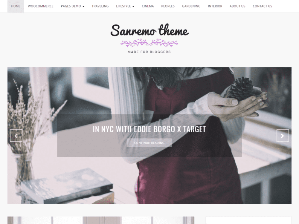 Free Sanremo Wordpress Theme