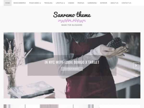 Free Sanremo Wordpress Theme