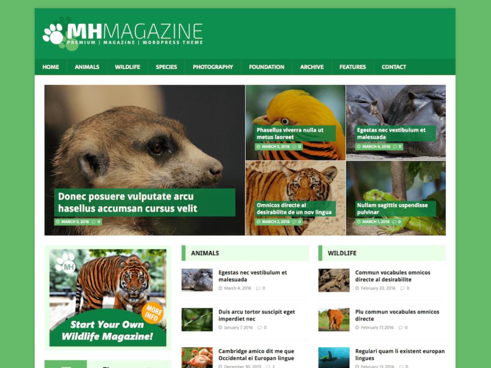 Free MH Biosphere Wordpress Theme